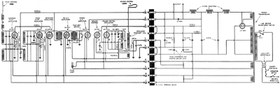 The power supply and chassis schematic found in the RCA Theremin Service Notes