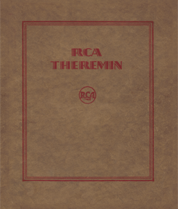 RCA Theremin Instruction Manual cover