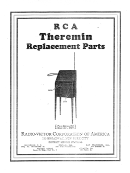 RCA Theremin Replacement Parts cover