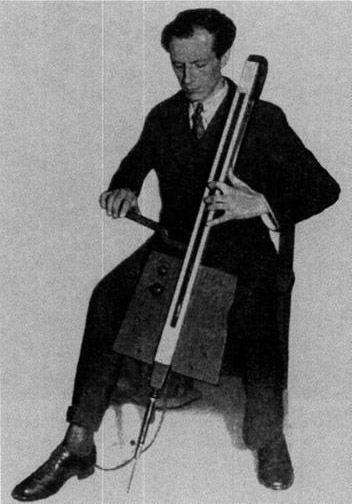 Lev with a theremin cello