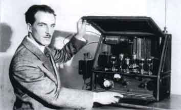 Lev demonstrating an early theremin of his